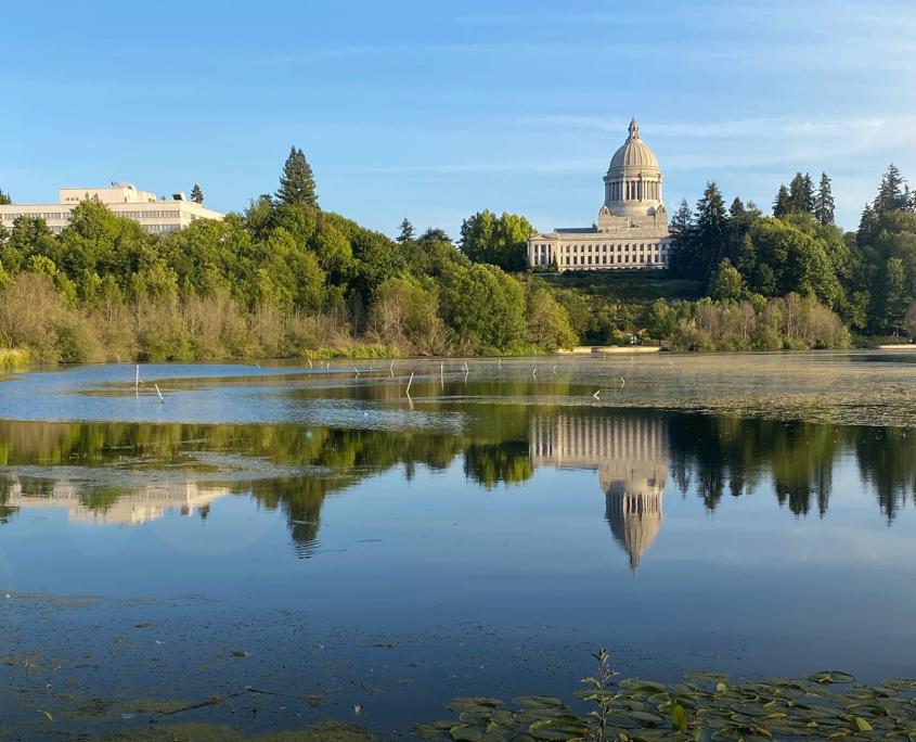 Legislative Building from Capitol Lake