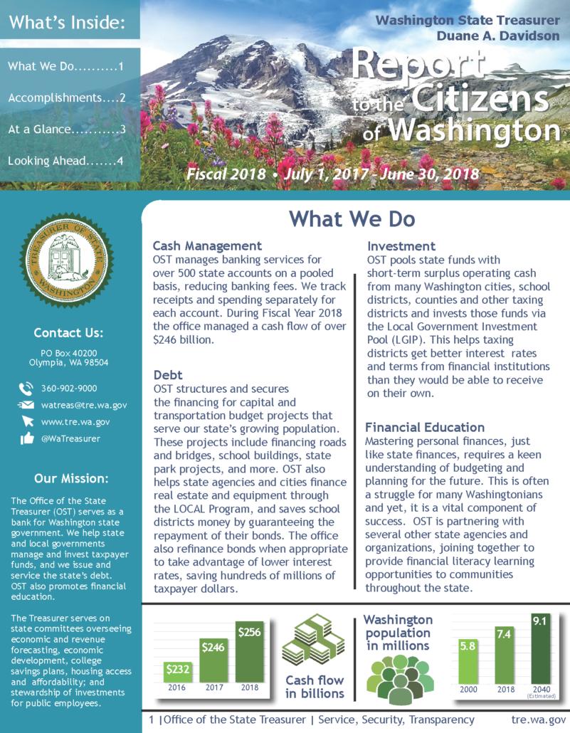 Washington State Sales Tax 2017 >> Citizen Centric Reports - Washington State Treasurer